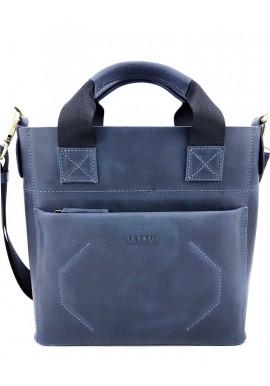 Фото Стильная мужская кожаная сумка Ватто Mk6.6 синяя