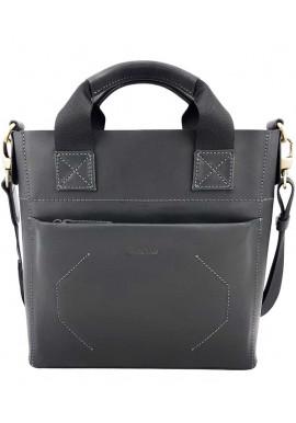 Фото Винтажная мужская кожаная сумка Ватто Mk6.6 черная