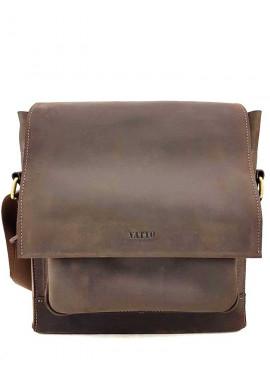 Фото Массивная мужская кожаная сумка Ватто Mk6.5 коричневая