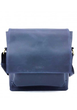 Фото Мужская кожаная сумка синей гладкой кожи Ватто Mk6.5