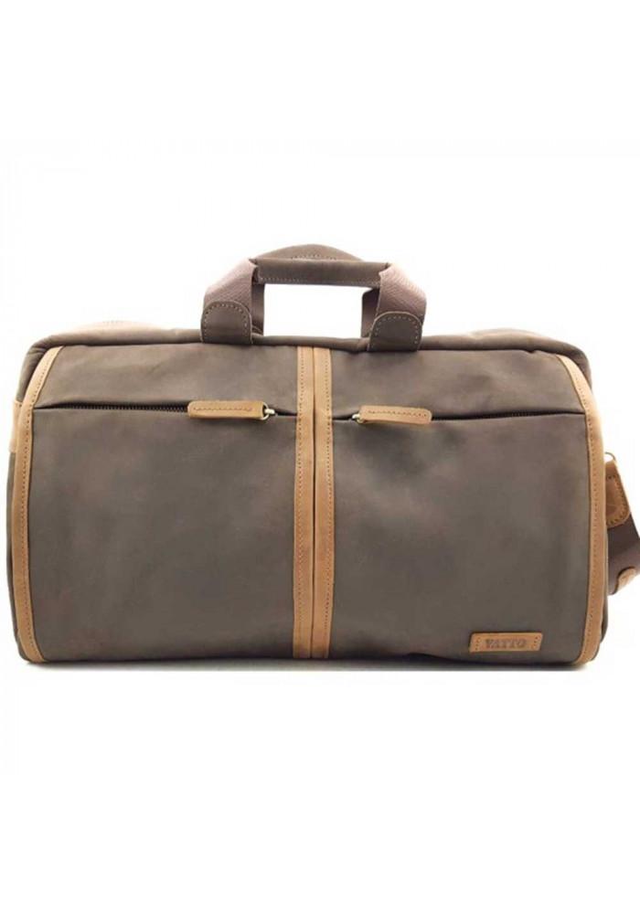 Фото Дорожная кожаная сумка Vatto Mk63 коричневая