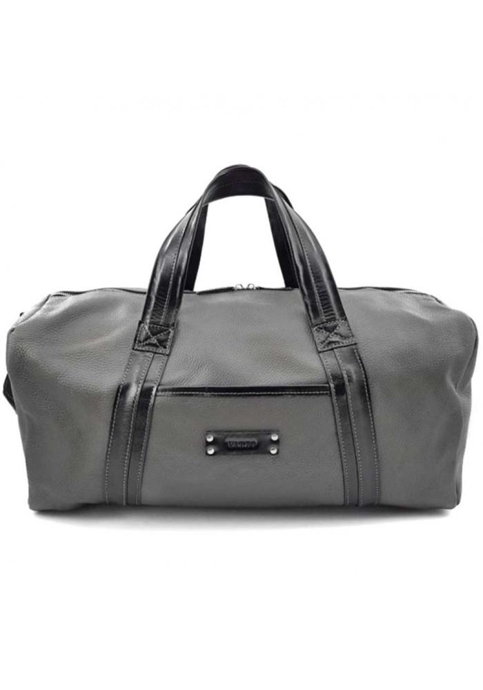 Фото Серая дорожная сумка из кожи Vatto Mk 62