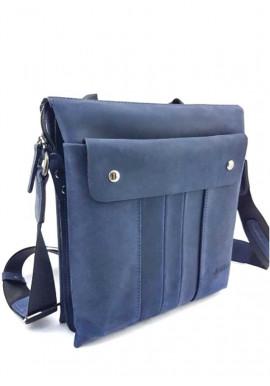 Фото Стильная сумка на плечо из мягкой синей кожи Ватто Mk 80