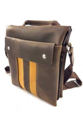 Фото Коричневая наплечная сумка из натуральной кожи Ватто Mk 80
