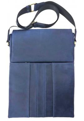 Фото Большая синяя кожаная сумка для А4 формата Ватто Mk 80.2