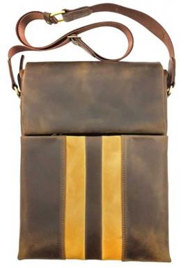 Фото Коричневая кожаная сумка-планшет для документов Ватто Mk 80.2