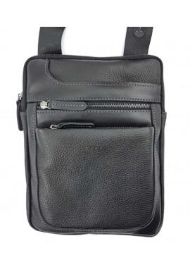 Фото Черная сумка планшет из фактурной кожи Ватто Mk 88