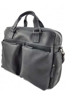 Фото Черная кожаная сумка для дороги Vatto МК 84