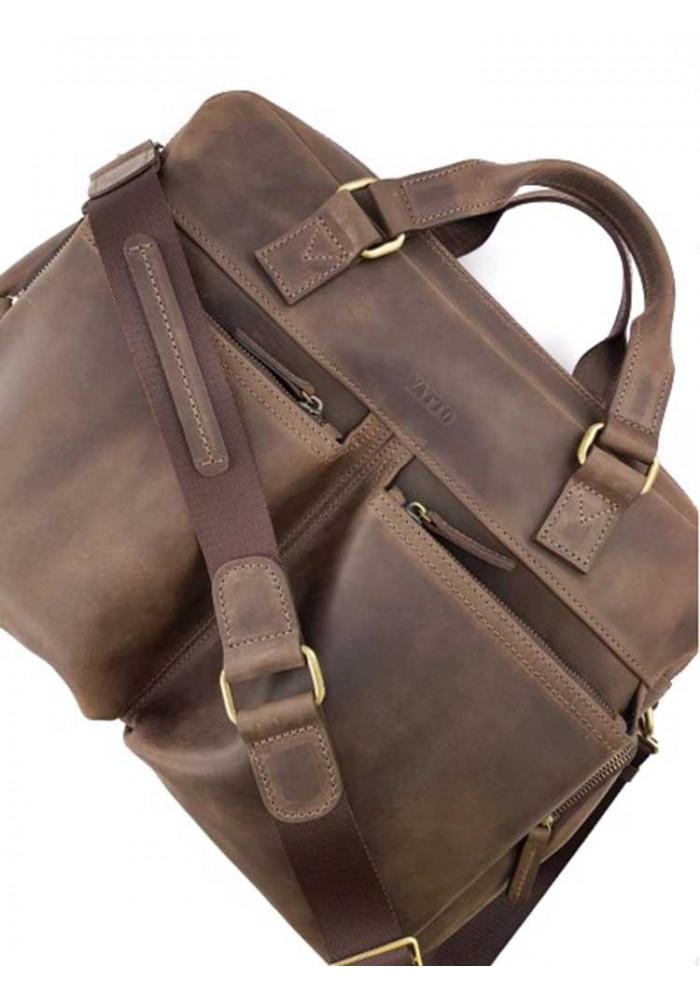 Дорожная сумка из кожи - крейзи хорс
