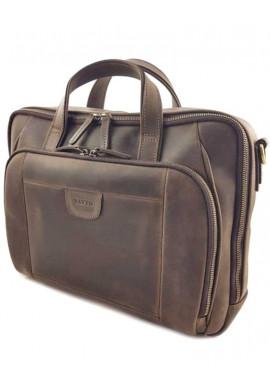 Фото Массивная кожаная сумка с отделом для ноутбука Vatto МК 85