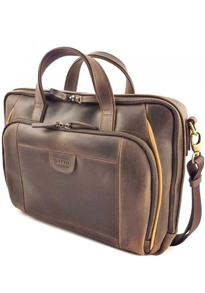 Фото Сумка с отделом для ноутбука из коричневой кожи Vatto МК 85