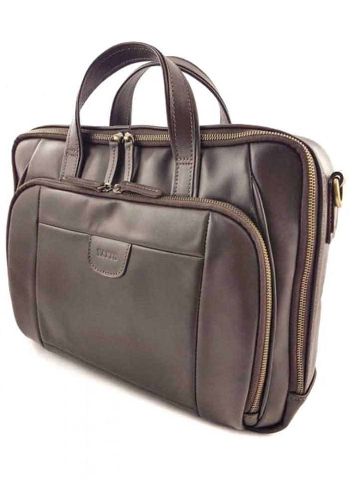 Фото Кожаная сумка шоколадного цвета Vatto МК 85