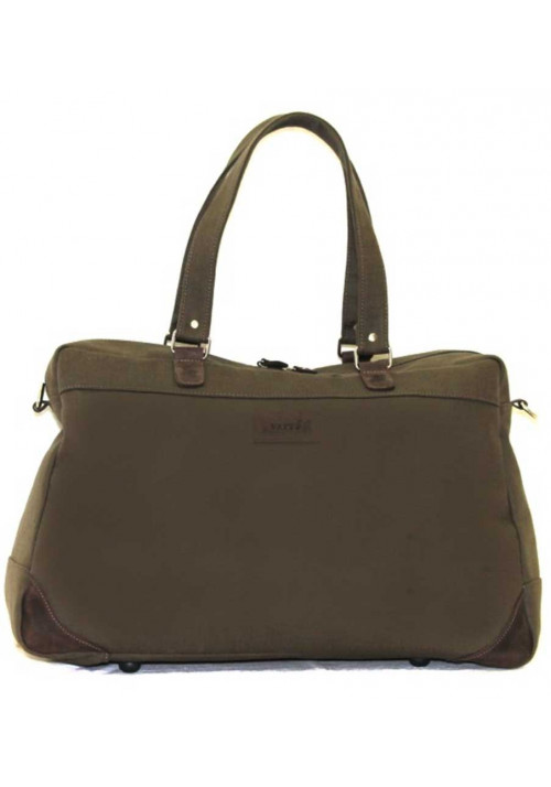 Дорожная сумка из хлопка цвета хаки Vatto B 14