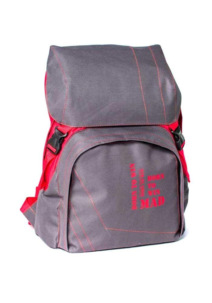 Городской рюкзак Urban TM MAD серо-красный