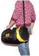 Спортивная мужская сумка-тубус 40L TM MAD черно-желтая, фото №6 - интернет магазин stunner.com.ua
