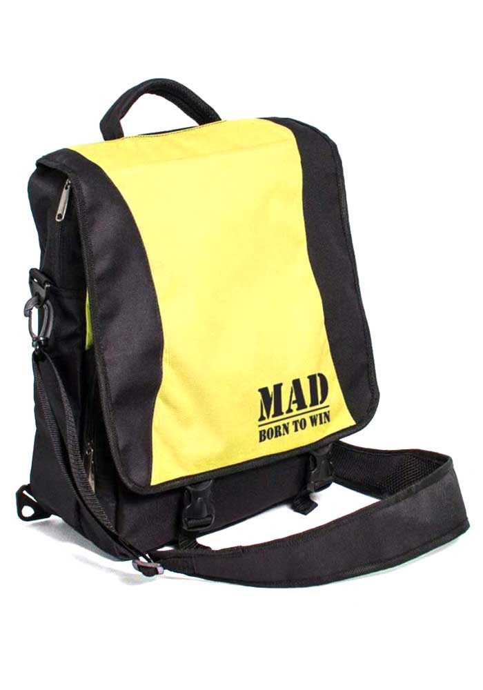 Женская спортивная сумка-рюкзак PACE TM MAD черно-желтая