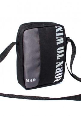 Фото Мужская сумка через плечо Nomo TM MAD серая