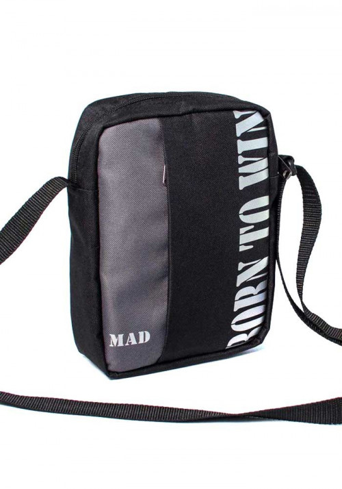 Мужская сумка через плечо Nomo TM MAD серая