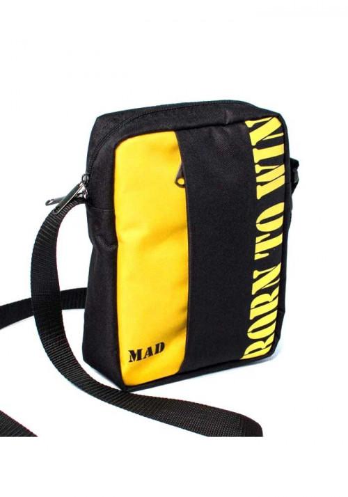 Тканевая сумка на плечо Nomo MAD желто-черная