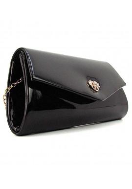 Фото Лаковая сумочка на плечо Rose Heart 103056 черная