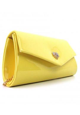 Фото Желтая лаковая сумочка на плечо Rose Heart 103056