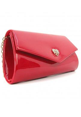 Фото Красная лаковая сумочка на плечо Rose Heart 103056
