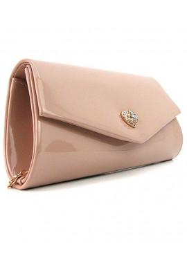 Фото Пудровая лаковая сумочка на плечо Rose Heart 103056