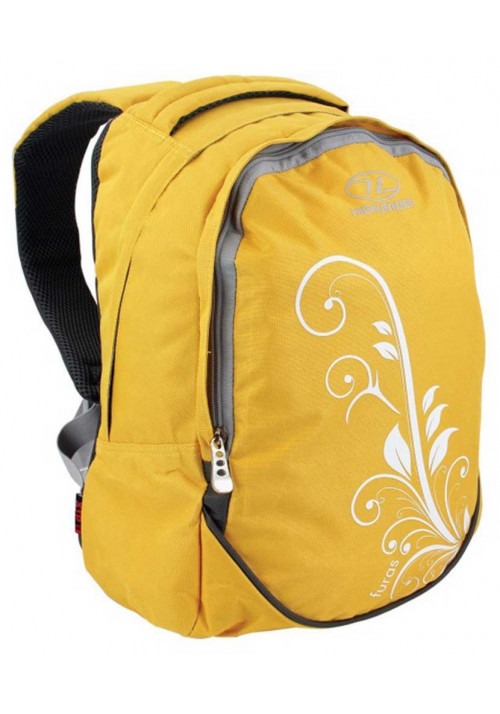 Желтый рюкзак для девушки Highlander Furas 18 Yellow With Print