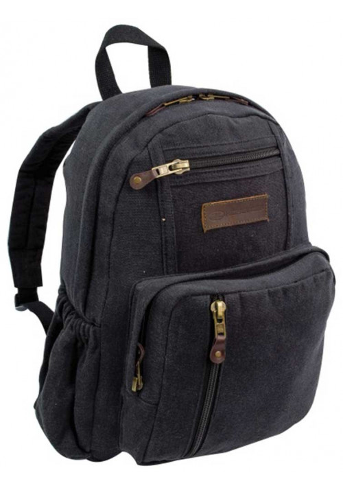 Черный рюкзак из хлопка Highlander Salem Canvas 18 Black