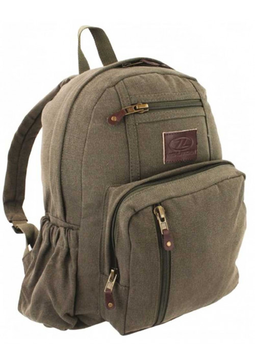 Оливновый рюкзак из хлопка Highlander Salem Canvas 18 Olive