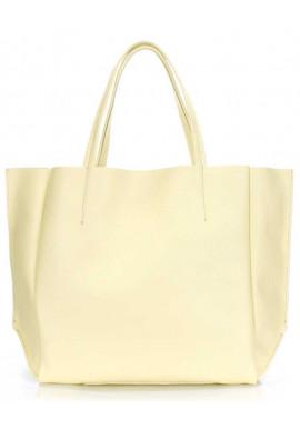 Фото Летняя желтая кожаная женская сумка Poolparty Soho Lemonade