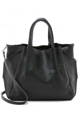 Фото Модная кожаная женская сумка Poolparty Soho RMX Black