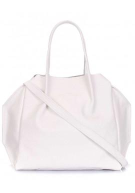 Фото Женская сумка из белой кожи Poolparty Soho RMX White