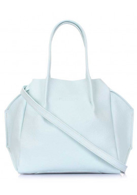 Фото Женская сумка из голубой натуральной кожи Poolparty Soho RMX Babyblue