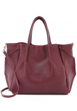 Фото Кожаная сумка цвета марсала Poolparty Soho RMX Marsala