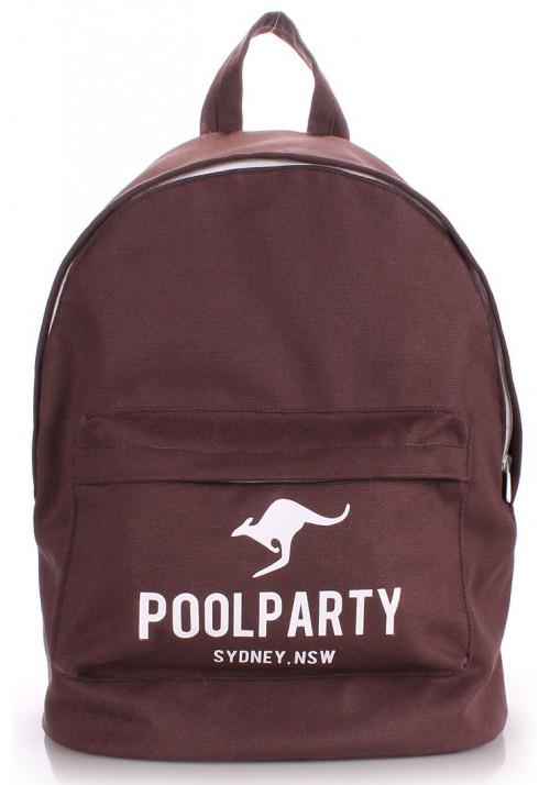 Рюкзак Poolparty коричневый тканевый