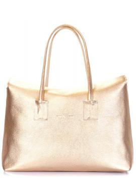 Фото Женская сумка натуральная кожа Poolparty Sense Gold
