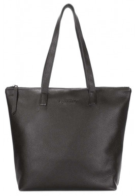 Фото Черная кожаная сумка Poolparty Secret Black