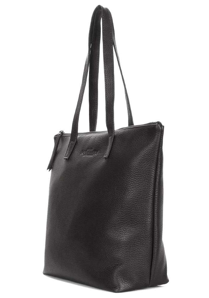 8a595b136182 ... Черная кожаная сумка Poolparty Secret Black, фото №2 - интернет магазин  stunner.com ...