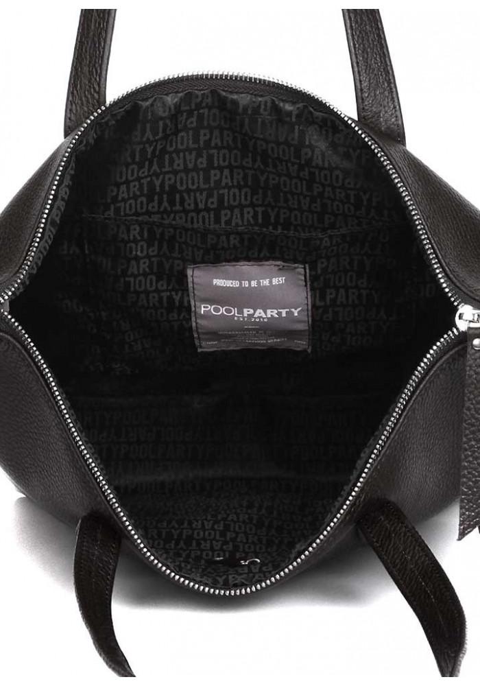69df5f507858 ... Черная кожаная сумка Poolparty Secret Black, фото №3 - интернет магазин  stunner.com ...