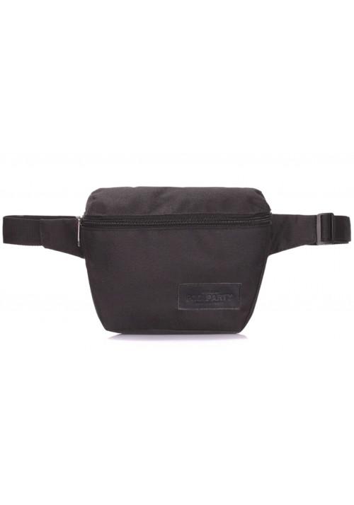 Черная сумка на пгояс Poolparty Fanny Oxford Black