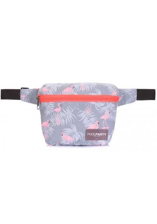 Женская летняя сумка на пояс Poolparty Fanny Flamingo