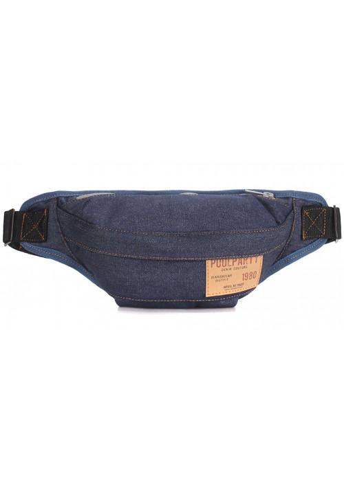 Джинсовая сумка на пояс Poolparty Bumbag Jeans