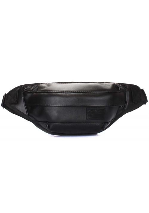 Сумка на пояс из экокожи Poolparty Bumbag PU Black
