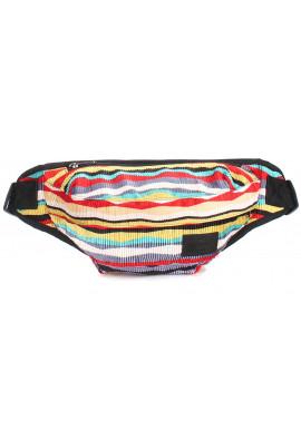Фото Разноцветная сумка на пояс Poolparty Bumbag Velvet Red