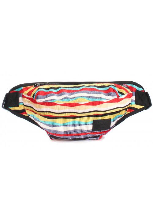 Разноцветная сумка на пояс Poolparty Bumbag Velvet Red