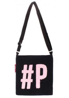 Фото Сумка на плечо с розовым логотипом Poolparty Detroit Black Rose