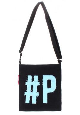 Фото Сумка на плечо с голубым логотипом Poolparty Detroit Black Blue