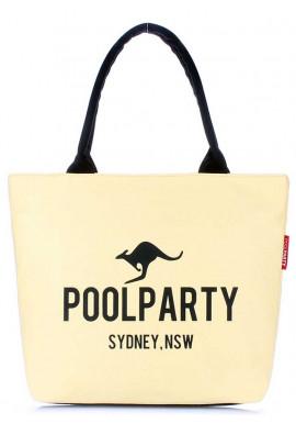 Фото Желтая тканевая женская сумка Poolparty Pool-9 Yellow