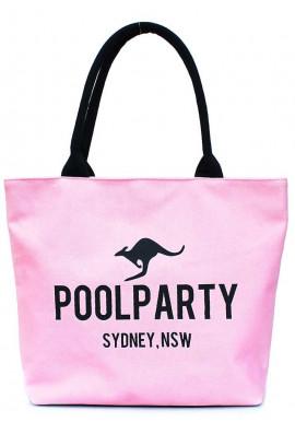 Фото Розовая женская сумка из ткани Poolparty Pool-9 Rose